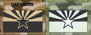 Arizona State Flag Tan on IR Magic Black SolasX patch