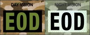 EOD OD Green on IR Magic Black SolasX Patch