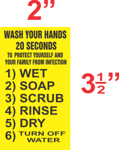 Official New York City Wash Hands Sticker